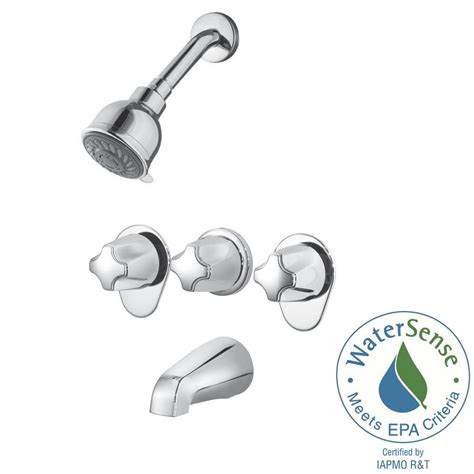 3 handle shower pfister 3 handle 3 spray tub and shower faucet in polished