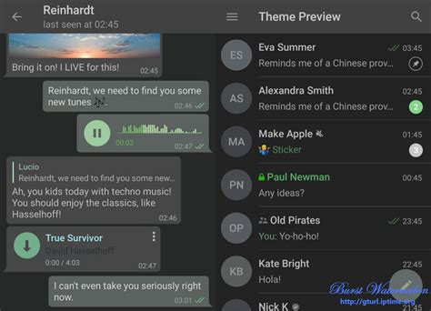 telegram color themes burst watermelon 텔레그램 테마 telegram theme for android