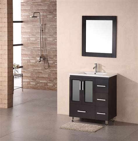 32 inch bathroom vanity cabinet 32 inch modern single sink bathroom vanity in espresso
