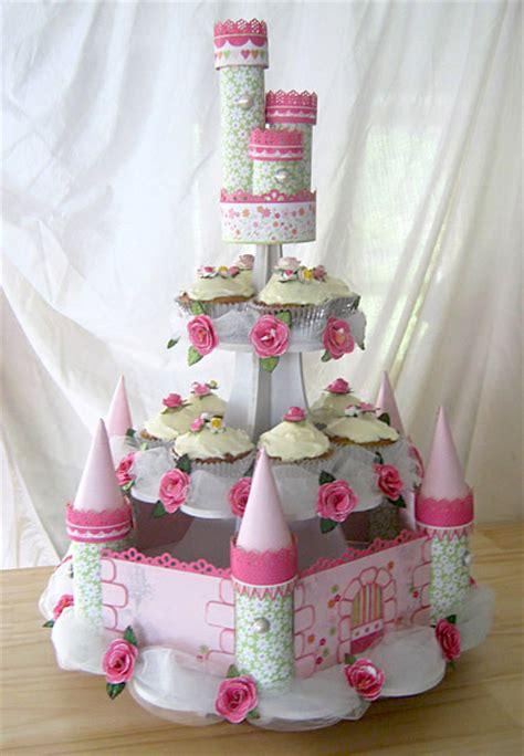 Cupa Cake Stand Paper Sofia Pink castle cupcake stand s kingdom castle cupcake display