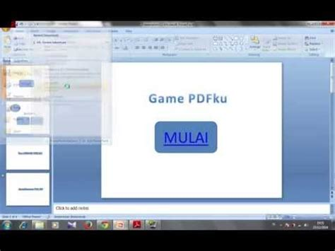Tutorial Membuat Game Powerpoint | kerenzarcade tutorial cara membuat game pdf dengan