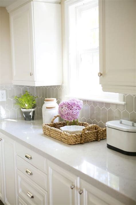 White Kitchen Cabinets And White Countertops Countertop Silestone Lagoon Kitchen Ideas Design White Quartz And Mosaics