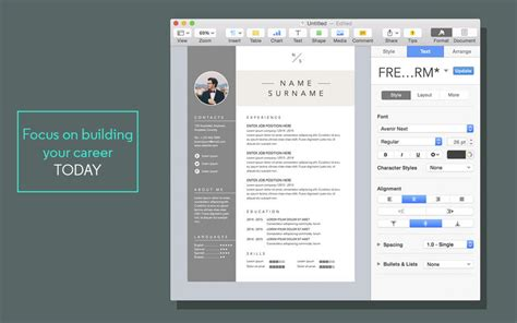 Resume Template For Pages by Resume Cv Templates For Pages On The Mac App Store
