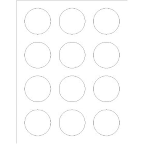 Templates Round Labels Foil 12 Per Sheet Adobe Indesign Avery Avery Circle Labels 2 Inch Template