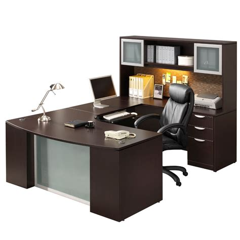U Desk Office Furniture Step Front U Unit