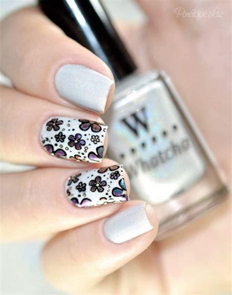 gray gray and gray 35 gray nail designs jewe