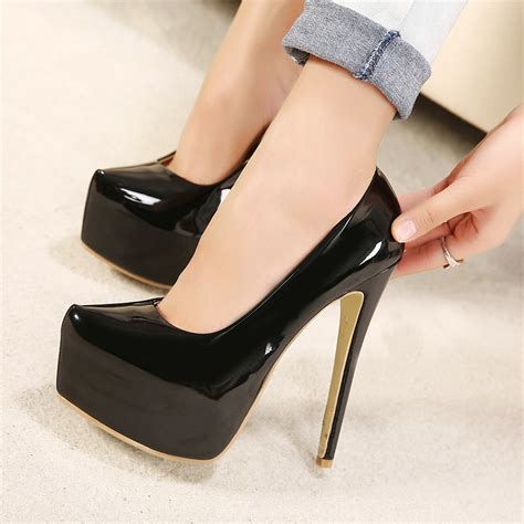 size 16 high heels 2015 new ultra high heel shoes fashion large