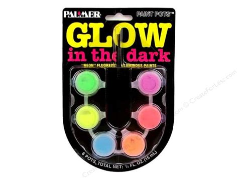 glow in the paint set glow in the acrylic paint set 6 pot mini createforless