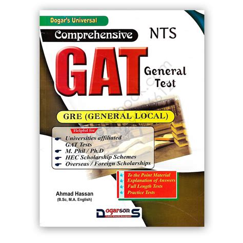 Gat Test For Mba by Comprehensive Gat General Test Gre By Ahmad Hassan