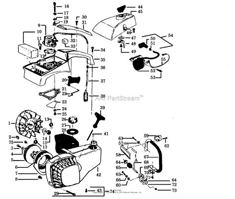 poulan thing chainsaw parts diagram poulan 2300av gas saw parts diagram for handles housing