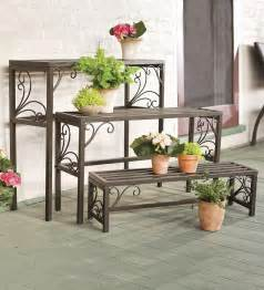 unique and beautiful wrought iron plant stands outdoor