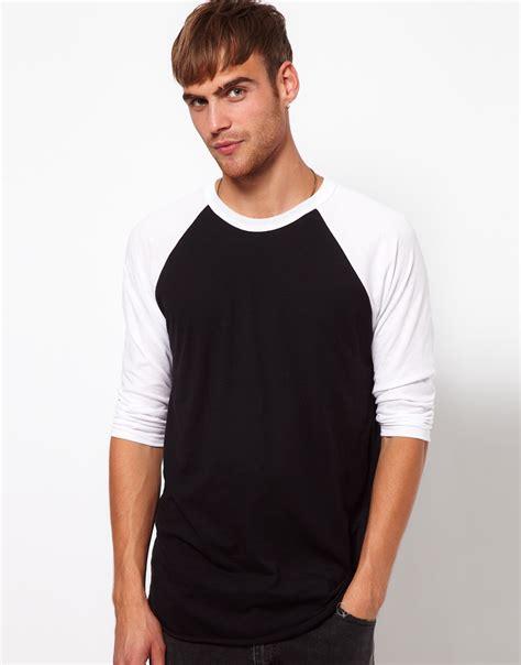 american apparel 34 sleeve raglan top in black for lyst