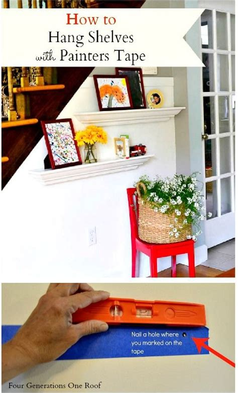 how to put photos on wall without tape 17 best ideas about hanging shelves on pinterest