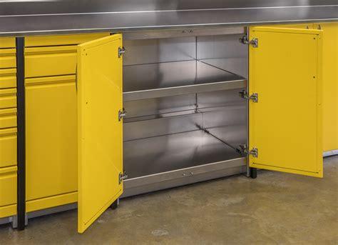 Yellow Garage Cabinets Yellow Aluminum Custom Garage Cabinets Dsw Manufacturing