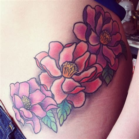 magnolia flower tattoo flowers magnolia pink tattoos water size