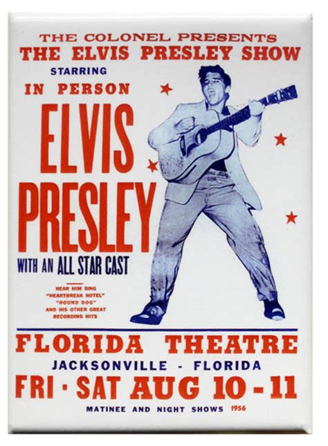 elvis presley poster magnet woodstock trading company