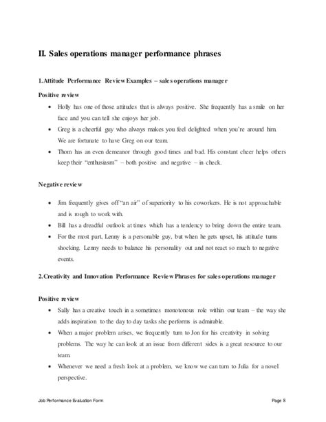 employee performance evaluation template excel awesome best 25