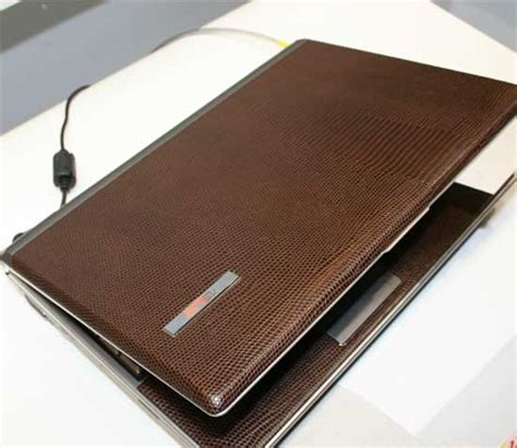 A Girly Laptop In Leather By Asus by Computex 2006 Mobile Coverage Pc Perspective