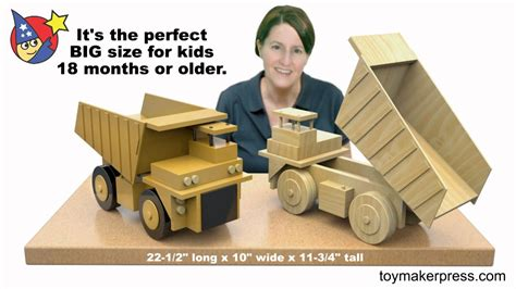 wood toy plans giant coal  truck youtube