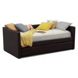 Daybed With Trundle And Mattress Carey Daybed With Trundle Brown Value City Furniture
