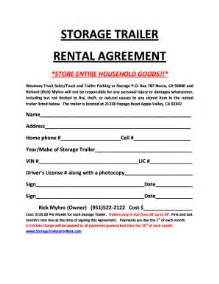 Self Storage Rental Agreement Template by Self Storage Rental Agreement Template Storage
