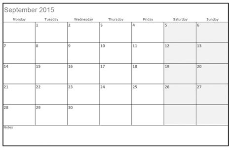 write on calendar template 2015 calendar with space to write autos post