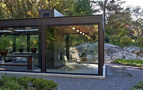 Outdoor House by Outdoor Living Room In The Glass House