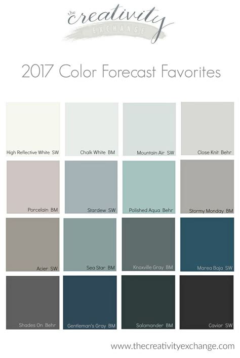 sherwin williams 2017 paint colors 17 best images about 2017 color trends on pinterest