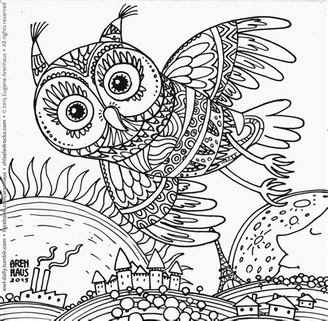 owl doodle coloring page owl design coloring page 352 owl above it all