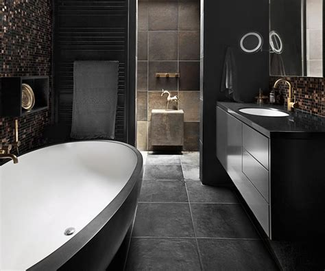 black hole moody bathroom design trends