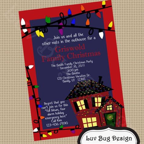 christmas lights party printable invite printable party