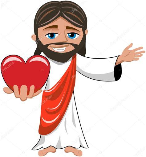 imagenes vectoriales de jesus dibujos animados de jes 250 s sonriente sosteniendo gran