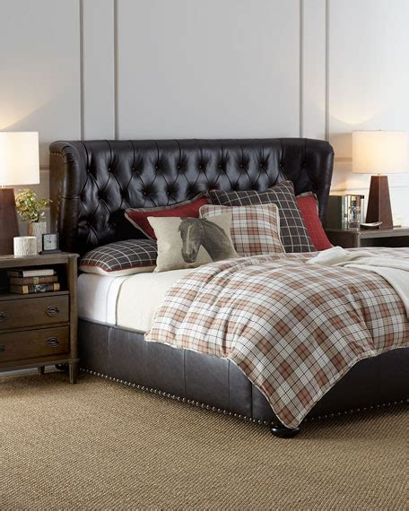tufted leather bed gables tufted leather king bed