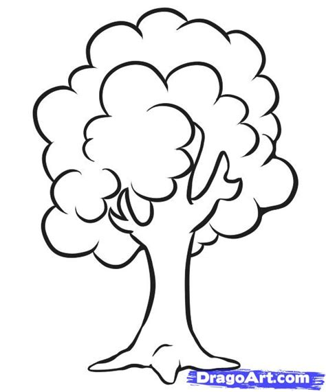 simple tree drawing how to draw a simple tree step by step trees pop