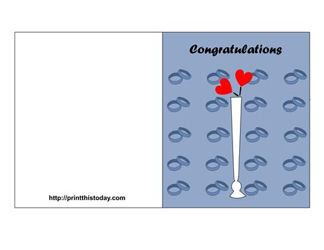free printable wedding congratulations cards
