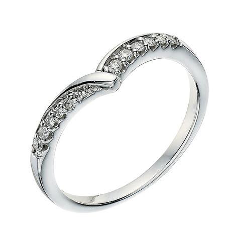 9ct white gold set wishbone shape ring ernest jones
