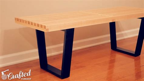 diy mid century bench diy mid century modern slatted bench woodworking crafted