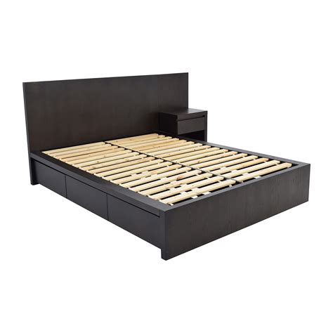 queen storage platform bed 54 off west elm west elm storage queen platform bed and