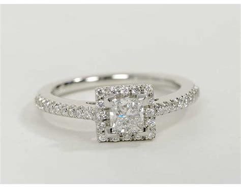 0 5 carat princess cut halo engagement