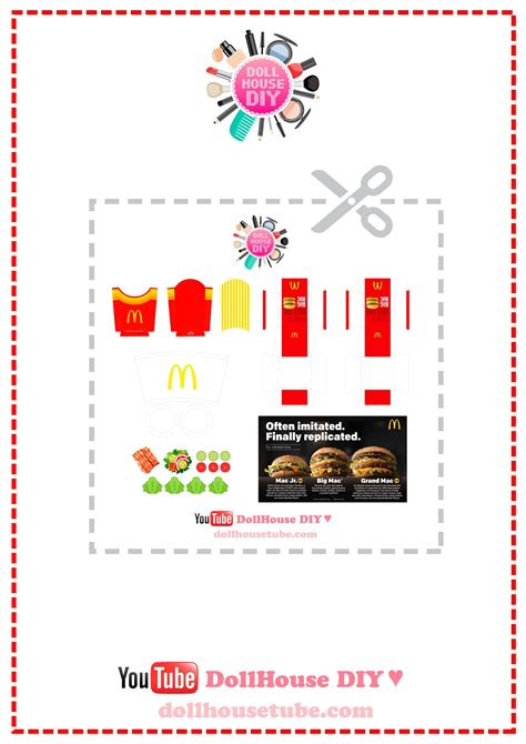 dolls house menu pin by elnobel on doll house grocery prints pinterest mcdonald menu miniatures and doll houses