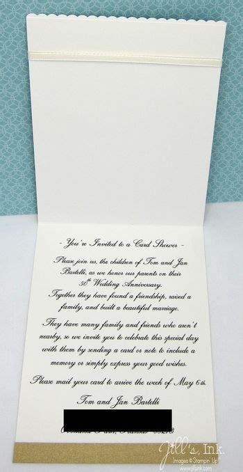 Card shower invitation   50th Anniversary   Pinterest
