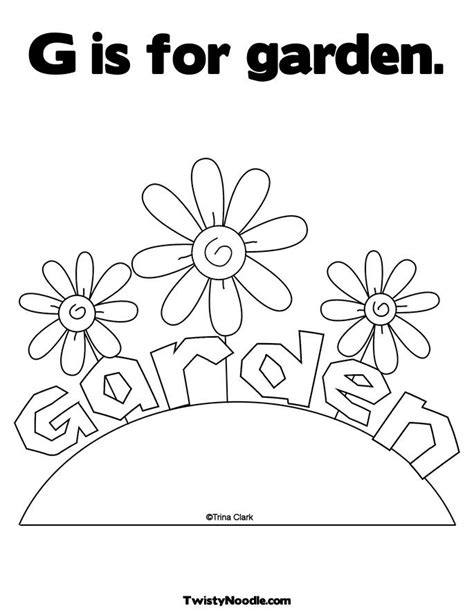 preschool coloring pages garden pin by cigales on dibujos pinterest