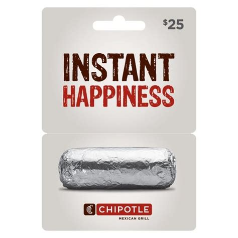 Target Specialty Gift Cards - chipotle 25 gift card target