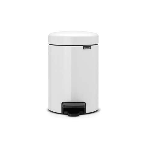 White Plastic Bathroom Bin by Brabantia New Icon 112126 3 Litre White Pedal Bin Plastic