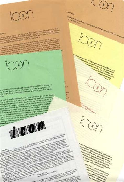 supplement 3 letters icon members pack fan club letters supplements more
