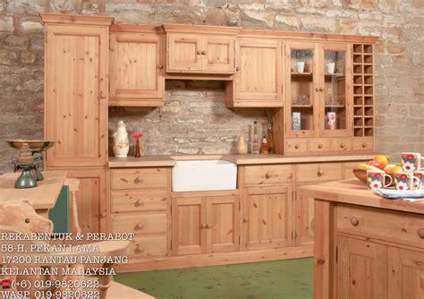 Kabinet Dapur Kayu kabinet dapur kayu pine perabot kabinet dapur pine