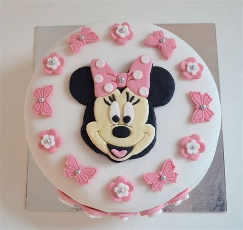 edible minnie mouse cake topper birthday icing personalised pink unofficial ebay