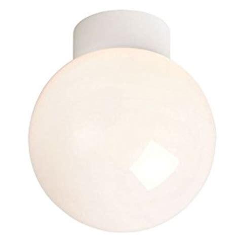 Sphere Ceiling Light by Endon Lighting Bathroom Ceiling Light Opal White Glass