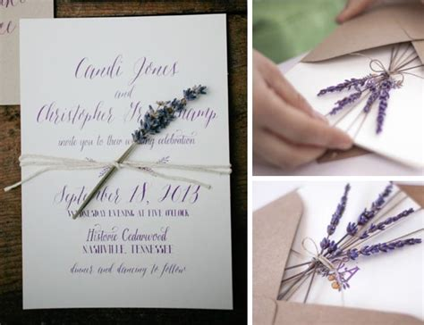 wedding invitations lavender flower invitations with dried flowers weddings do it yourself