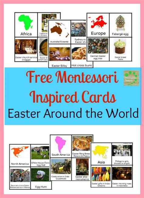 printable montessori flashcards easter traditions montessori and flashcard on pinterest
